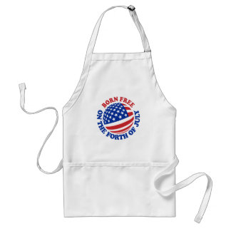 Born Free on the Forth of July Adult Apron