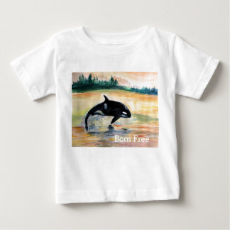 Born Free Whale Baby Fine Jersey T-Shirt, White Baby T-Shirt