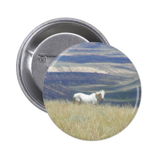 Born Free Wild Mustang Horse Button