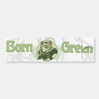 Born Green Enviro Frog by Mudge Studios Bumper Sticker