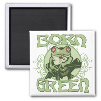 Born Green Enviro Frog by Mudge Studios Magnet