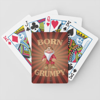 Born Grumpy Bicycle Playing Cards