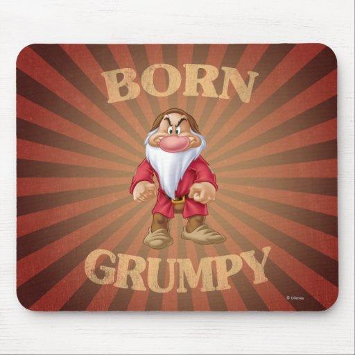 Born Grumpy Mouse Pads
