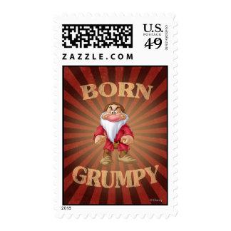 Born Grumpy Postage Stamp