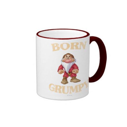 Born Grumpy Ringer Coffee Mug