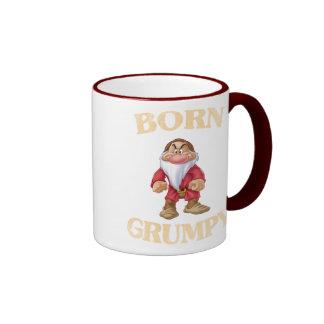 Born Grumpy Ringer Mug