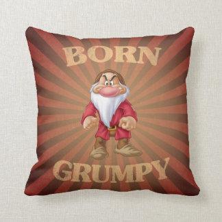 Born Grumpy Throw Pillow