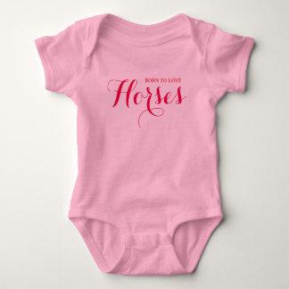 Born Horse Lover Baby Bodysuit