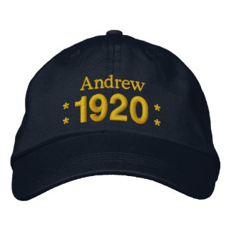 Born in 1920 or Any Year 90th Birthday V07 NAVY Embroidered Baseball Cap