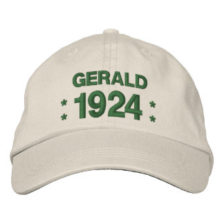 Born in 1924 or Any Year 90th Birthday A01 GREEN Embroidered Baseball Hat
