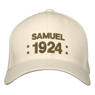 Born in 1924 or Any Year 90th Birthday A03 BROWN Embroidered Baseball Cap