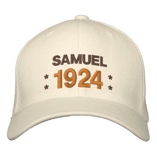 Born in 1924 or Any Year 90th Birthday A05 BROWN Embroidered Baseball Hat