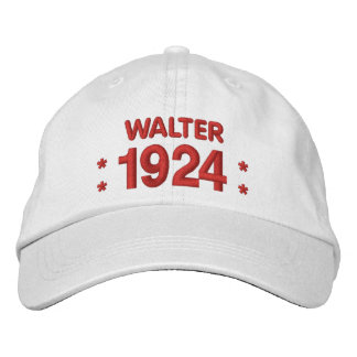 Born in 1924 or Any Year 90th Birthday V03A WHITE Embroidered Baseball Cap