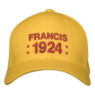Born in 1924 or Any Year 90th Birthday V05L YELLOW Embroidered Baseball Hat