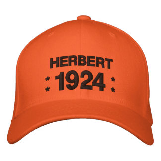 Born in 1924 or Any Year 90th Birthday V5N ORANGE Embroidered Baseball Cap