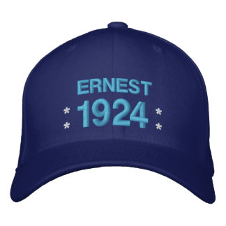 Born in 1924 or Any Year 90th Birthday V5Q ROYAL Embroidered Baseball Cap