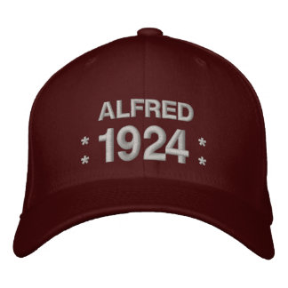 Born in 1924 or Any Year 90th Birthday V5R MAROON Embroidered Baseball Cap