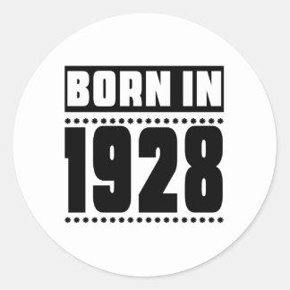 Born in 1928 classic round sticker