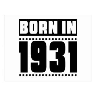 Born in 1931 postcard