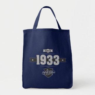 Born in 1933 (Light&Darkgrey) Tote Bag
