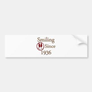 Born in 1936 bumper sticker