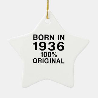 Born in 1936 ceramic ornament