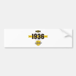 born in 1936 (choco&yellow) bumper sticker