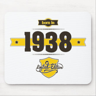 born in 1938 (choco&yellow) mouse pad