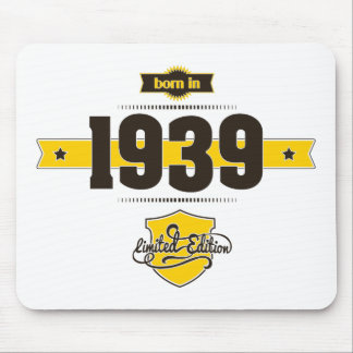 born in 1939 (choco&yellow) mouse pad