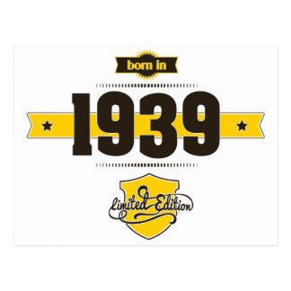 born in 1939 (choco&yellow) postcard