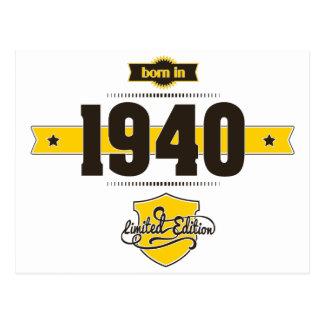 born in 1940 (choco&yellow) postcard