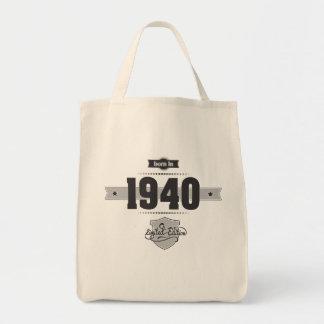 Born in 1940 (Dark&Lightgrey) Tote Bag