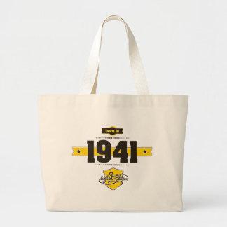 born in 1941 (choco&yellow) large tote bag