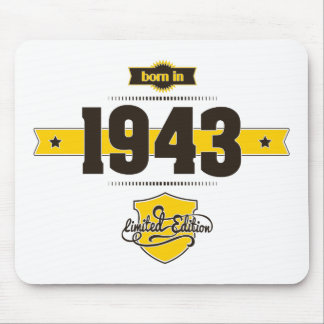 born in 1943 (choco&yellow) mouse pad