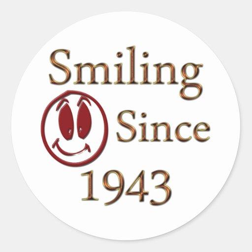 Born in 1943 classic round sticker