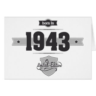 Born in 1943 (Dark&Lightgrey) Card