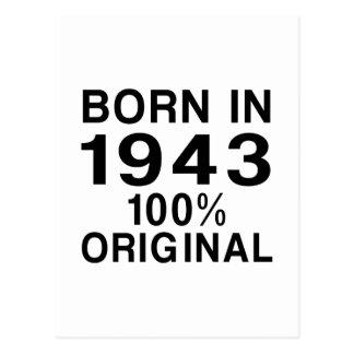 Born in 1943 postcard
