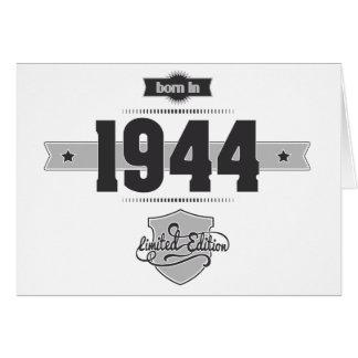Born in 1944 (Dark&Lightgrey) Card
