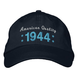 Born in 1944 or Any Year 70th Birthday A01 BLUE Embroidered Baseball Cap