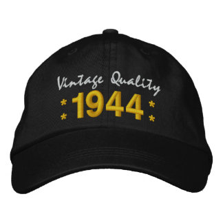 Born in 1944 or Any Year 70th Birthday V01A BLACK Cap