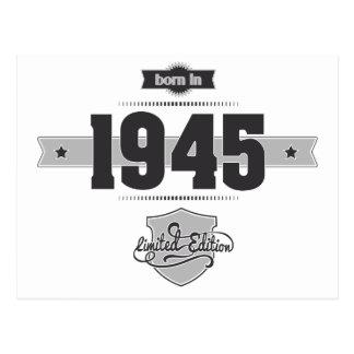 Born in 1945 (Dark&Lightgrey) Postcard