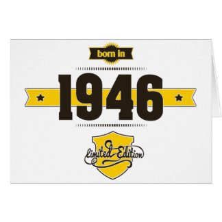 born in 1946 (choco&yellow) card