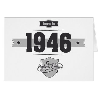 Born in 1946 (Dark&Lightgrey) Card
