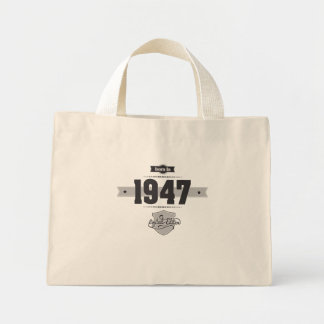 Born in 1947 (Dark&Lightgrey) Tote Bags