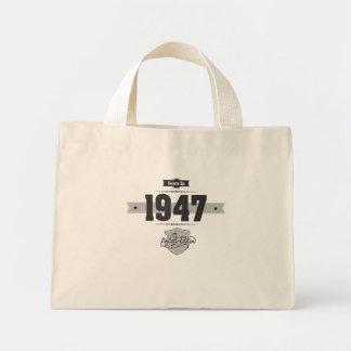 Born in 1947 (Dark&Lightgrey) Mini Tote Bag