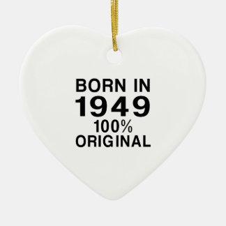 Born in 1949 ceramic ornament