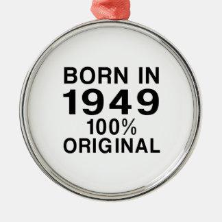 Born in 1949 metal ornament
