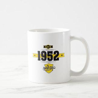 born in 1952 (choco&yellow) coffee mug