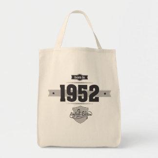 Born in 1952 (Dark&Lightgrey) Tote Bag
