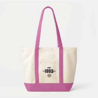 Born in 1953 (Dark&Lightgrey) Tote Bag
